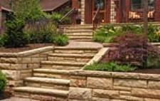 Stone walls and stairs by Battaglia Construction Cement and Stone Contractor